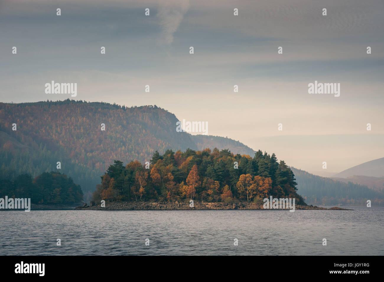 Avis de Thirlmere lake, Lake District, UK Photo Stock
