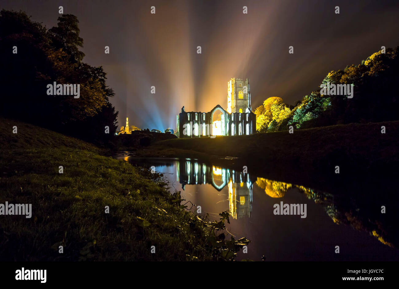 Abbaye de fontaines Photo Stock