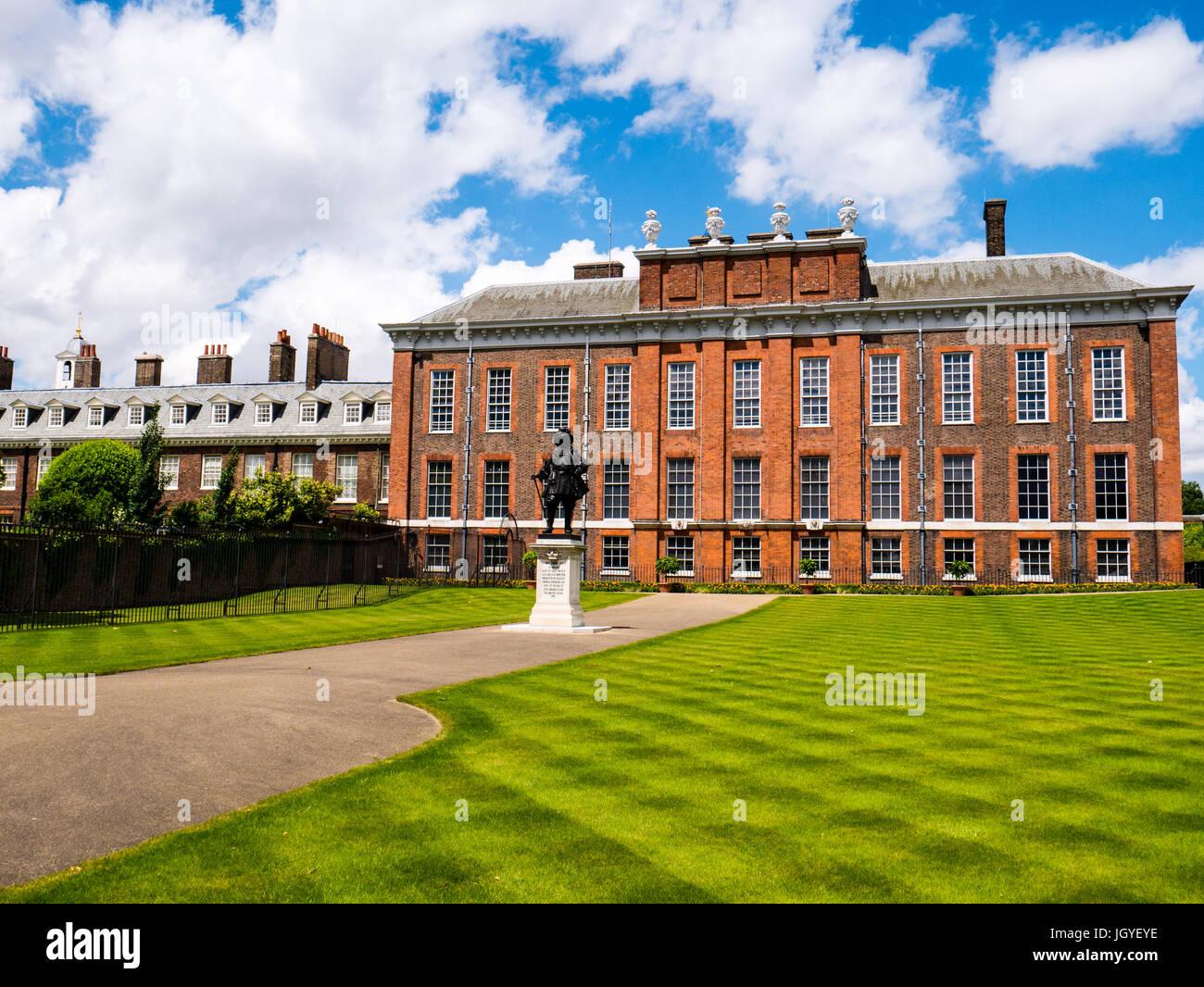 Kensington Palace, Kensington Gardens, Londres, Angleterre, RU, FR. Photo Stock