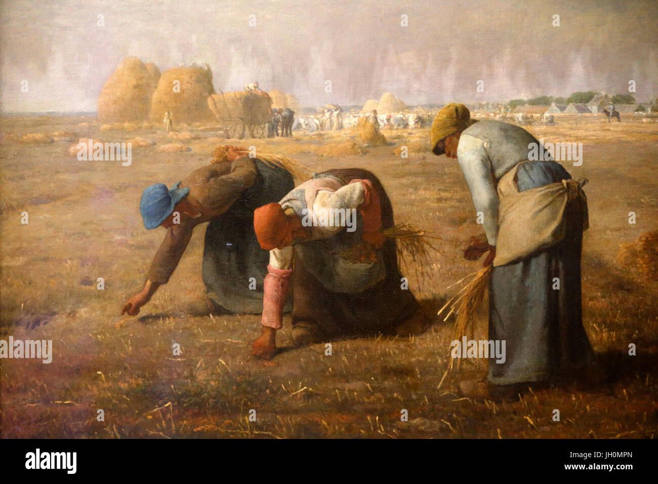 Musée d'Orsay. Millet treatment. Les Glaneurs. Huile sur toile. 1857. La France. Paris. La France. Photo Stock