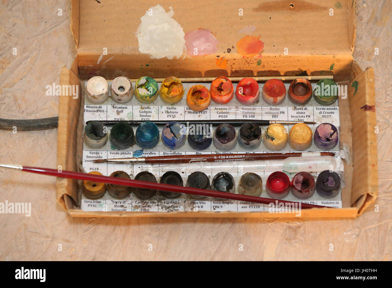 La palette d'aquarelle. La France. Photo Stock