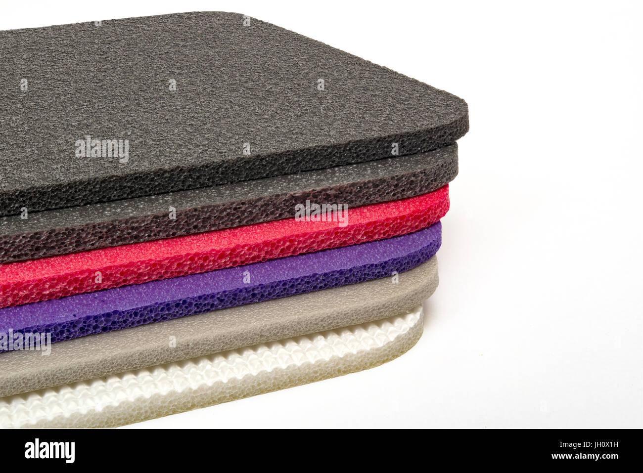 Mousse polyéthylène type Multi matériau antichoc foam colorés Banque D'Images