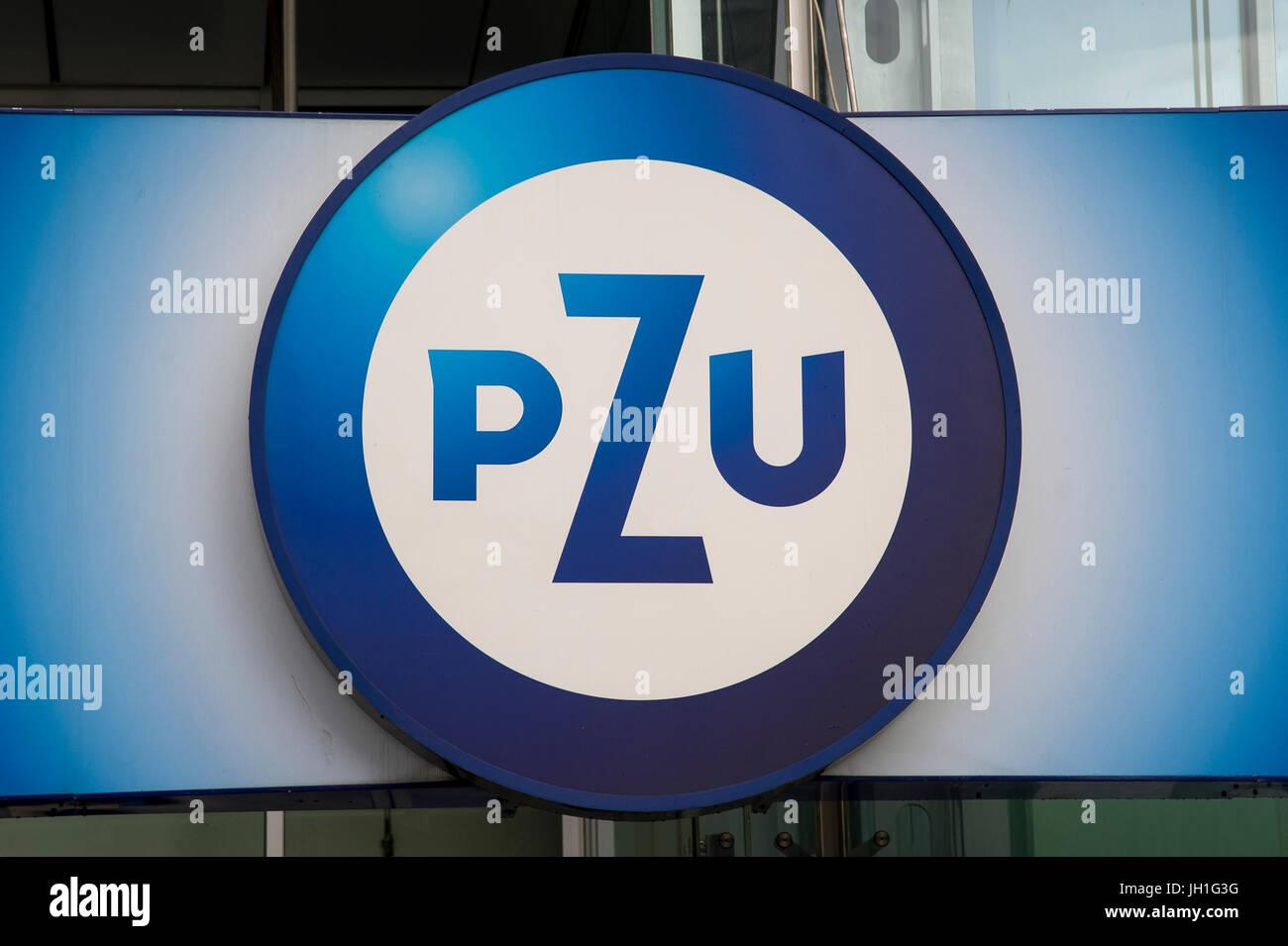 Powszechny Zakład Ubezpieczen PZU à Varsovie, Pologne. 6 avril 2017 © Wojciech Strozyk / Alamy Stock Photo Banque D'Images