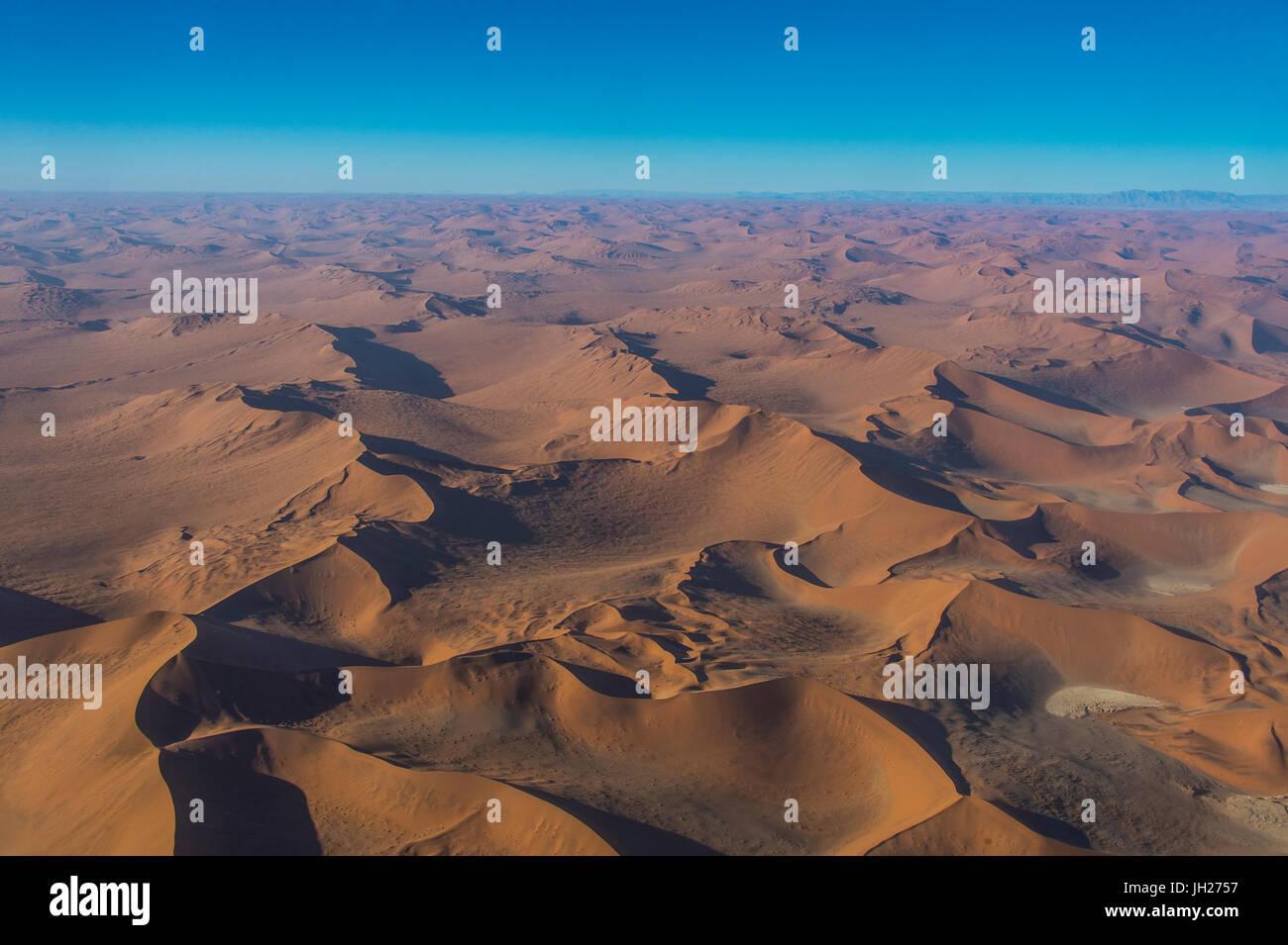 Aerial du désert du Namib, Namibie, Afrique Photo Stock