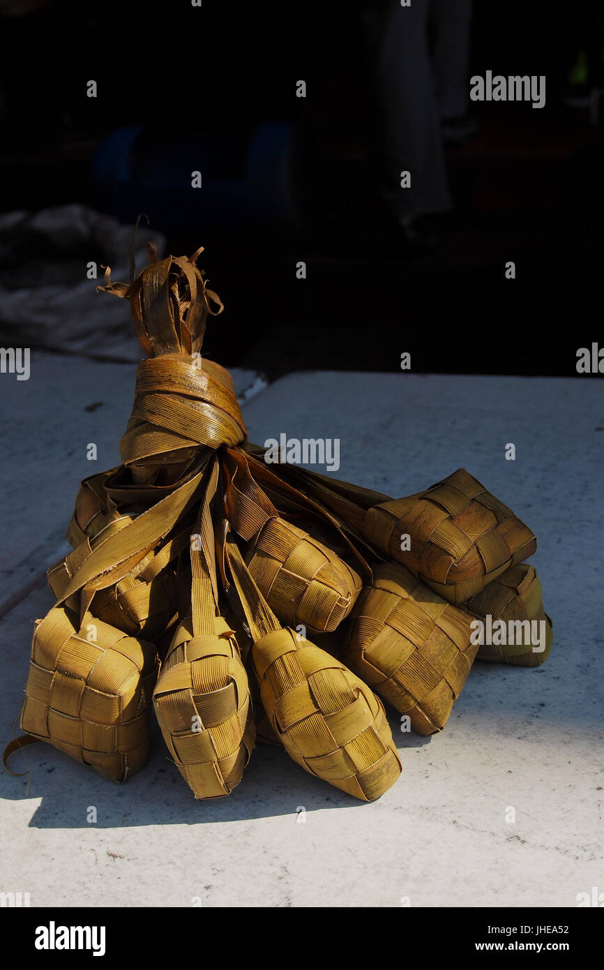 Ketupat, rice dumpling, Malaisie Photo Stock