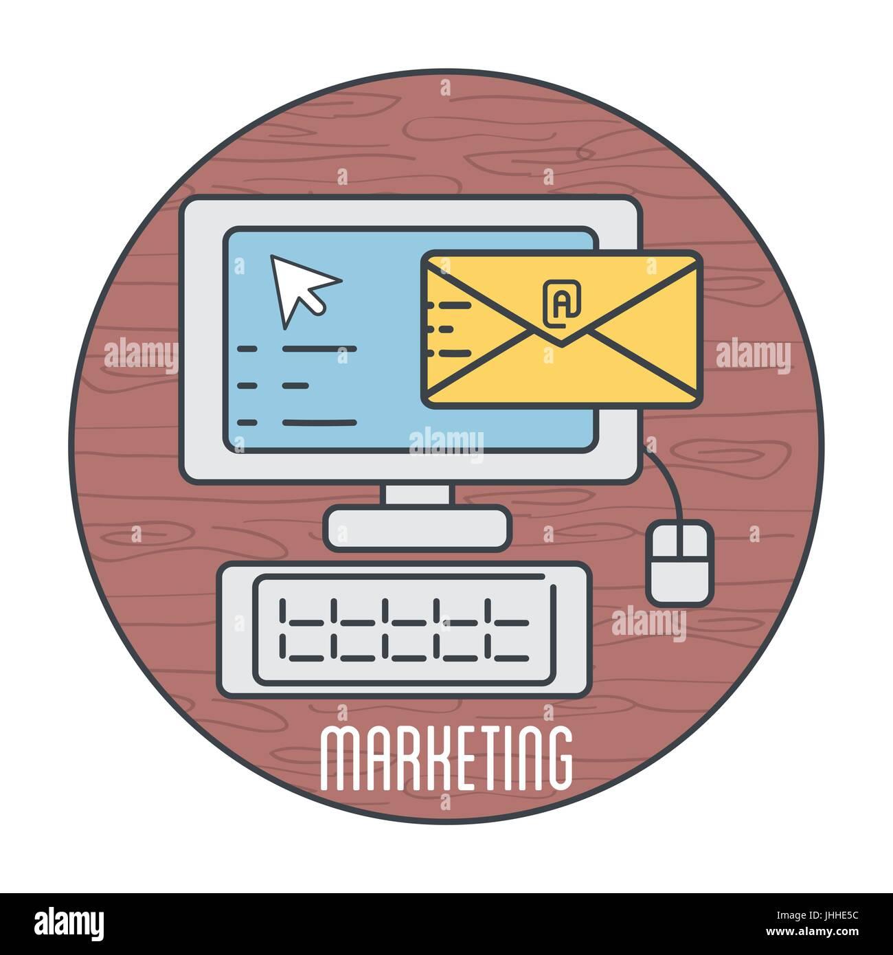 Ordinateur numérique avec business e-mail Message Photo Stock