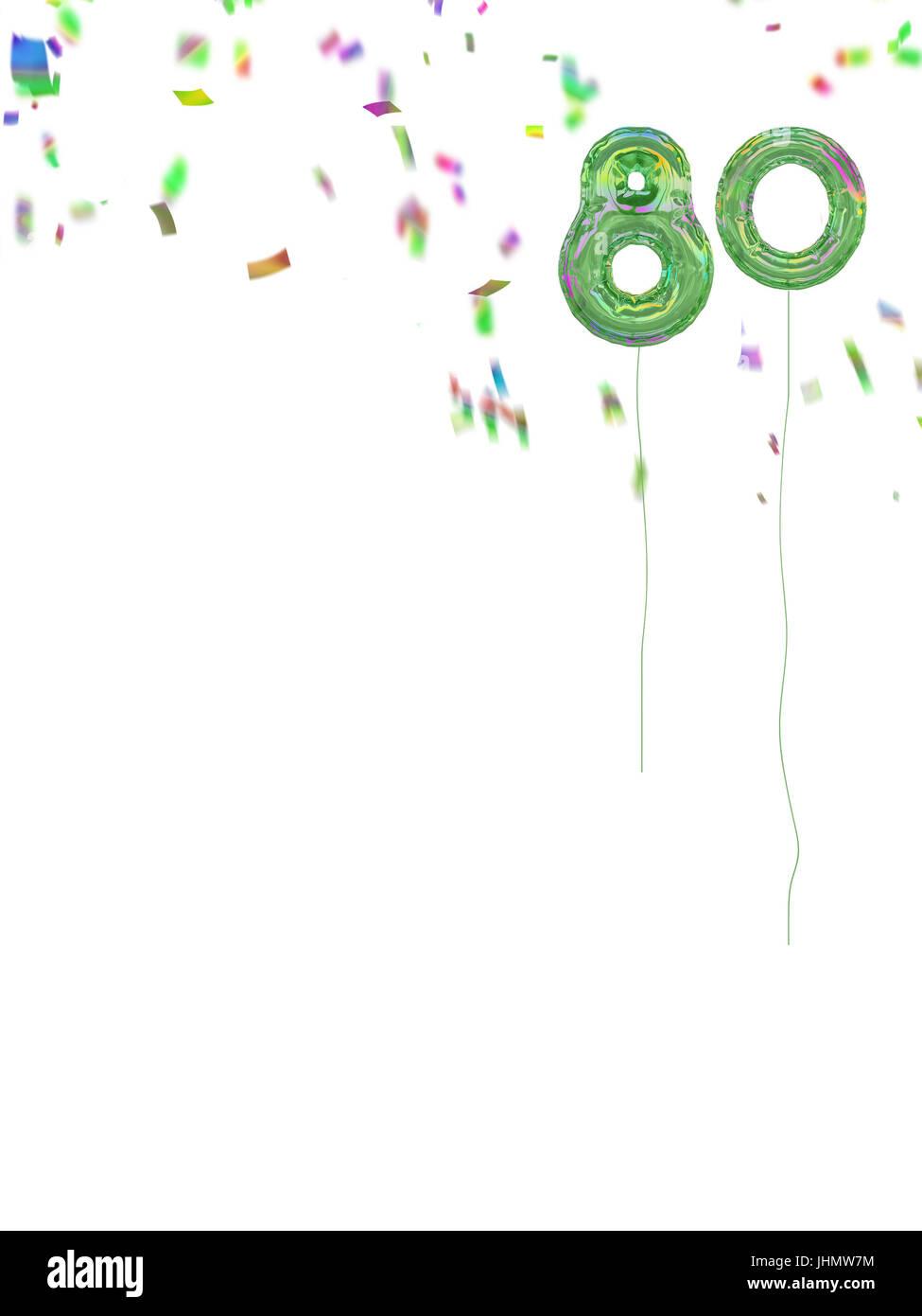 80. Style de la bobine des ballons. Arrière-plan de l'âge de célébration. Photo Stock