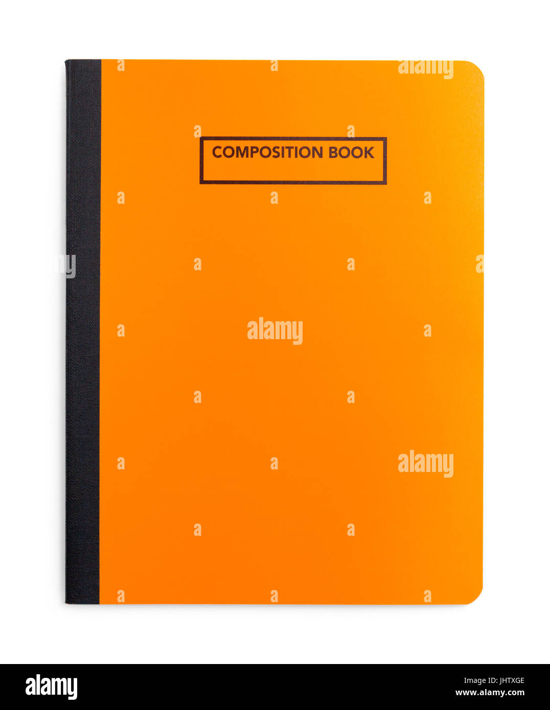 Composition Orange Book isolé sur fond blanc. Photo Stock