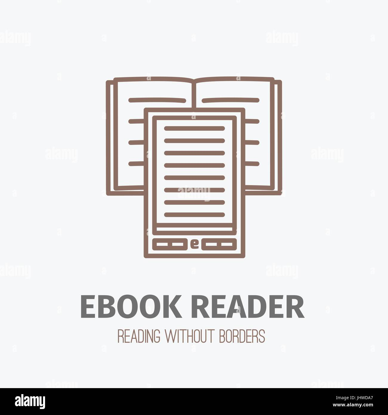 Doublure mince ebook reader. Photo Stock