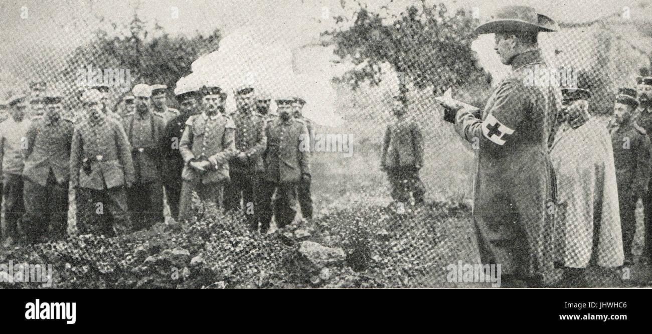 Enterrer des soldats allemands tombés, Belgique Photo Stock