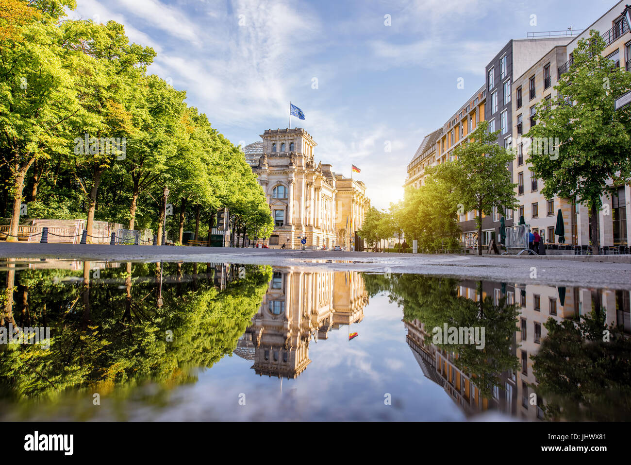 Vue sur la ville de Berlin Photo Stock