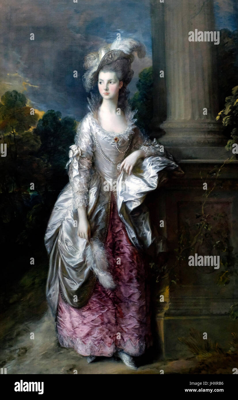 L'Honorable Mme Graham, Thomas Gainsborough, circa 1776 Photo Stock
