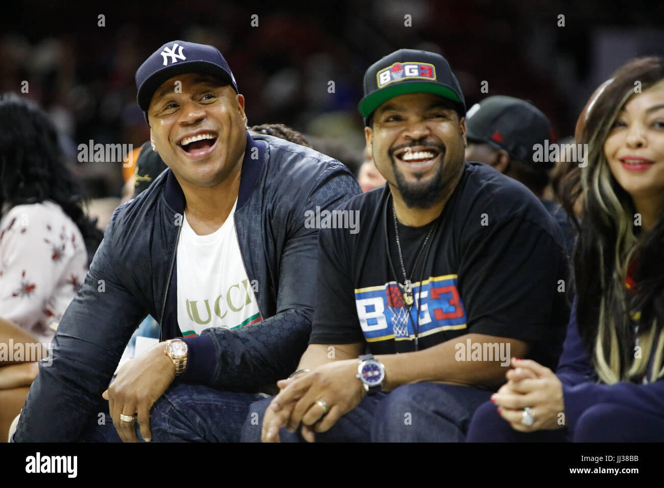 Ll cool j ice cube participer à big 3 phiily,ligue pa 7/16/17 Photo Stock