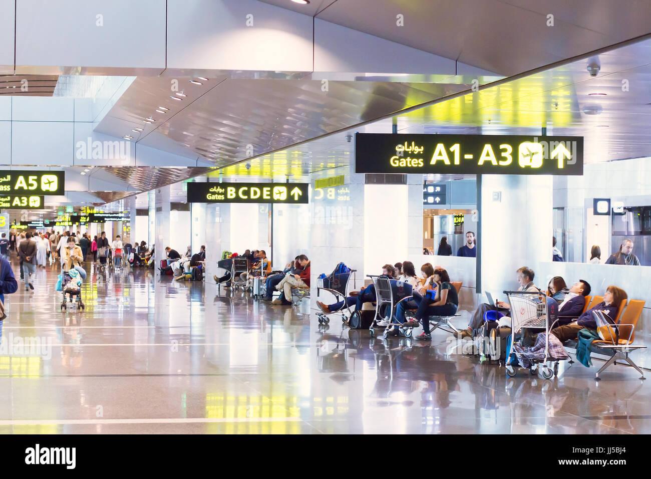 Doha, Qatar - 25 avril 2017: l'aéroport international de Doha Banque D'Images