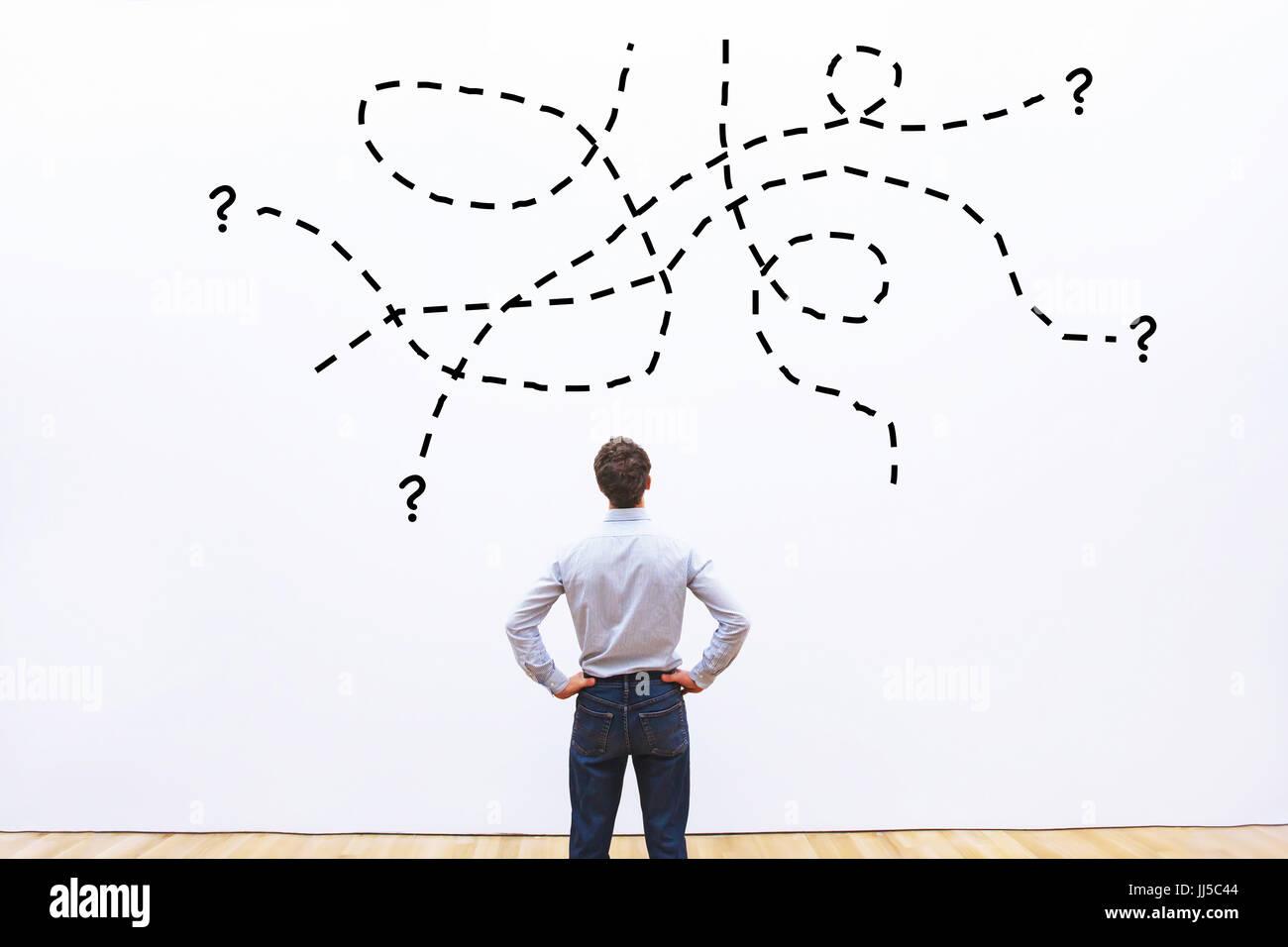 Tâche difficile, complexe ou d'une question d'affaires de l'ONU, problème concept Photo Stock