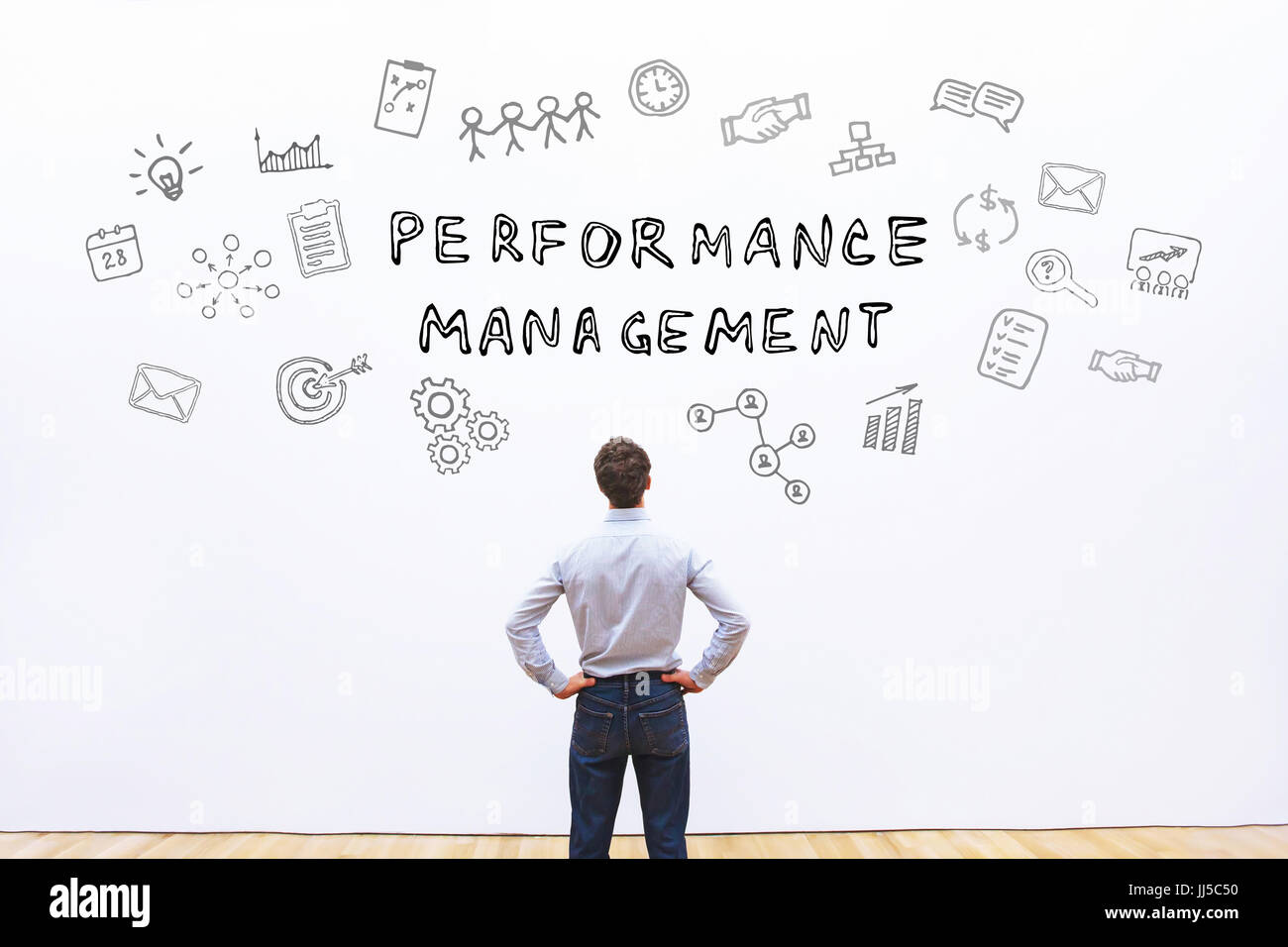Concept de gestion du rendement Photo Stock