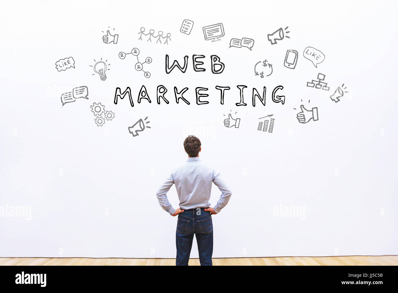 Concept de marketing web Photo Stock