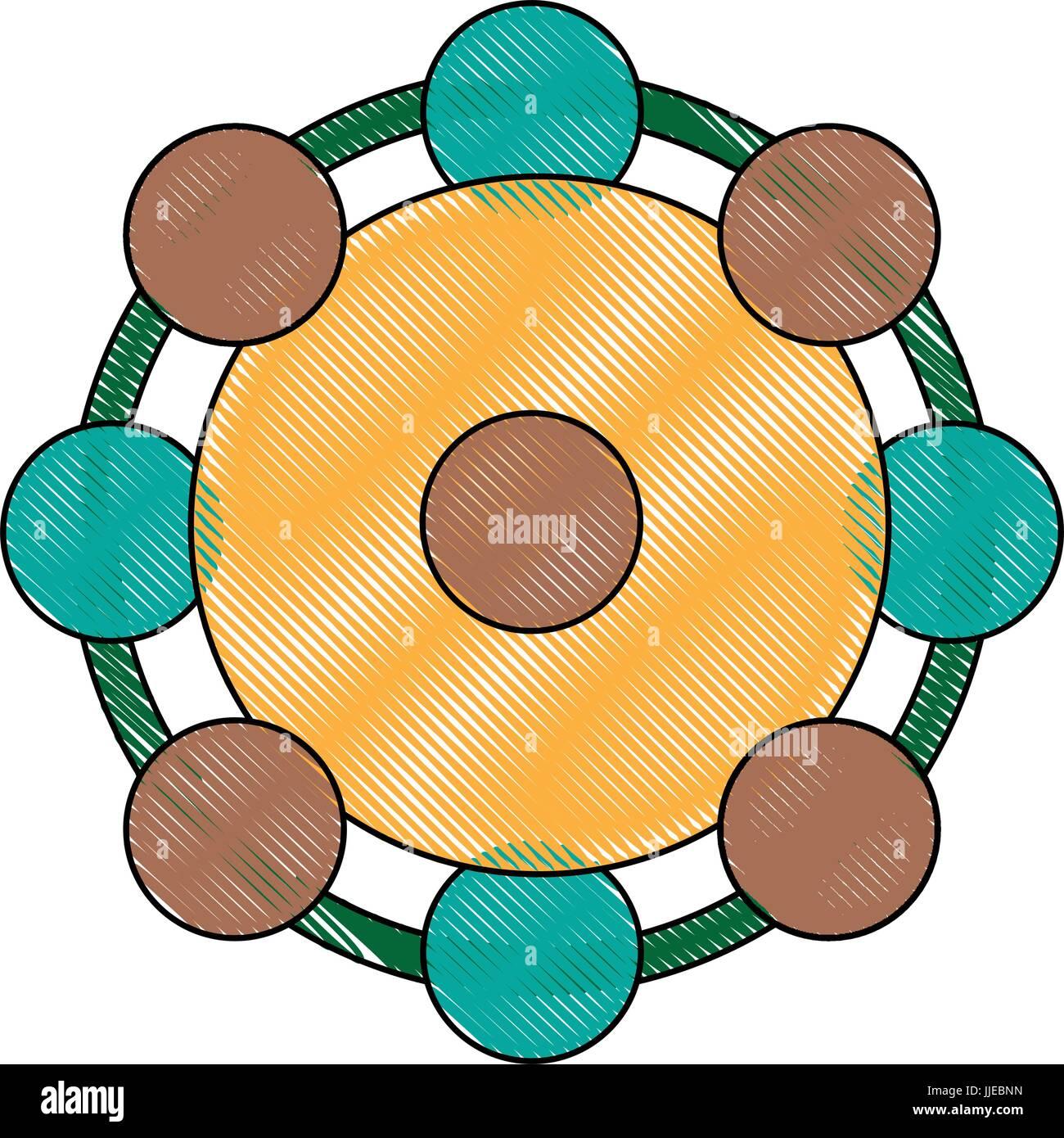 Résumé de l'étude médicale molécule atomes particules Photo Stock