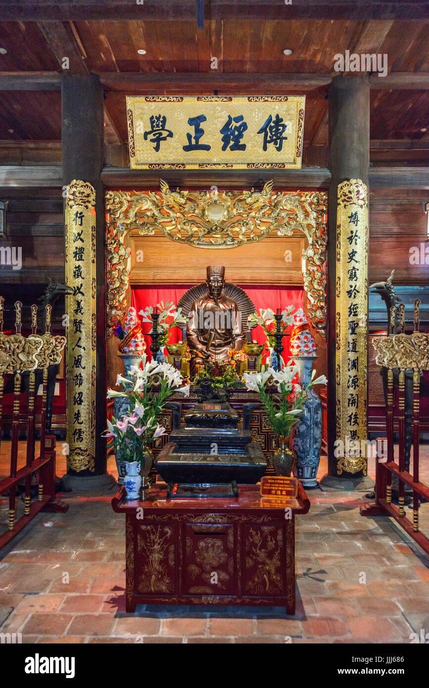 Temple de la littérature Hanoi Vietnam Photo Stock