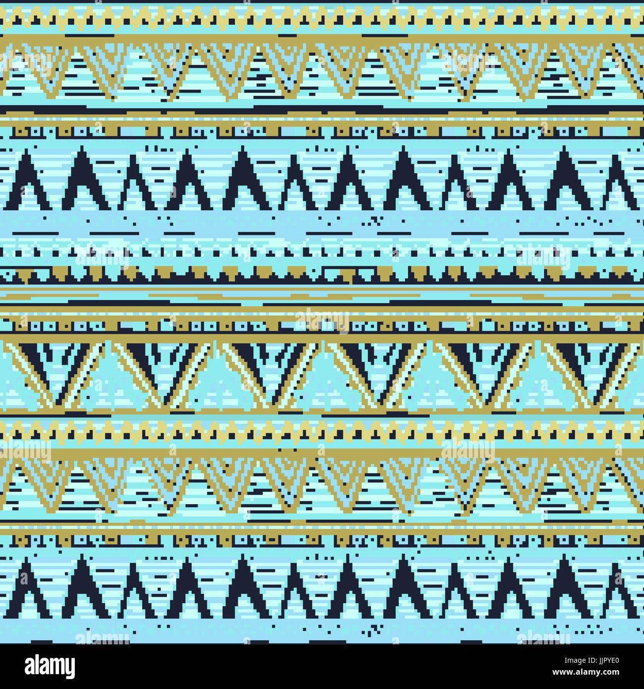 Boho Ethnique Modele Homogene Art Tribal Aztec Print Ornement De