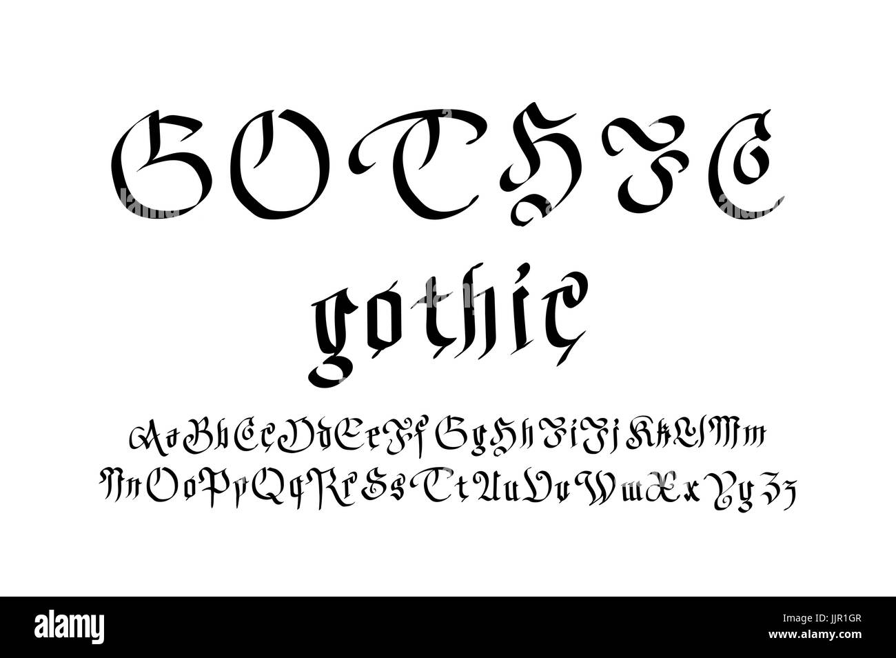 Style gothique moderne font lettres gothiques vecteur dart style gothique moderne font lettres gothiques vecteur dart thecheapjerseys Choice Image