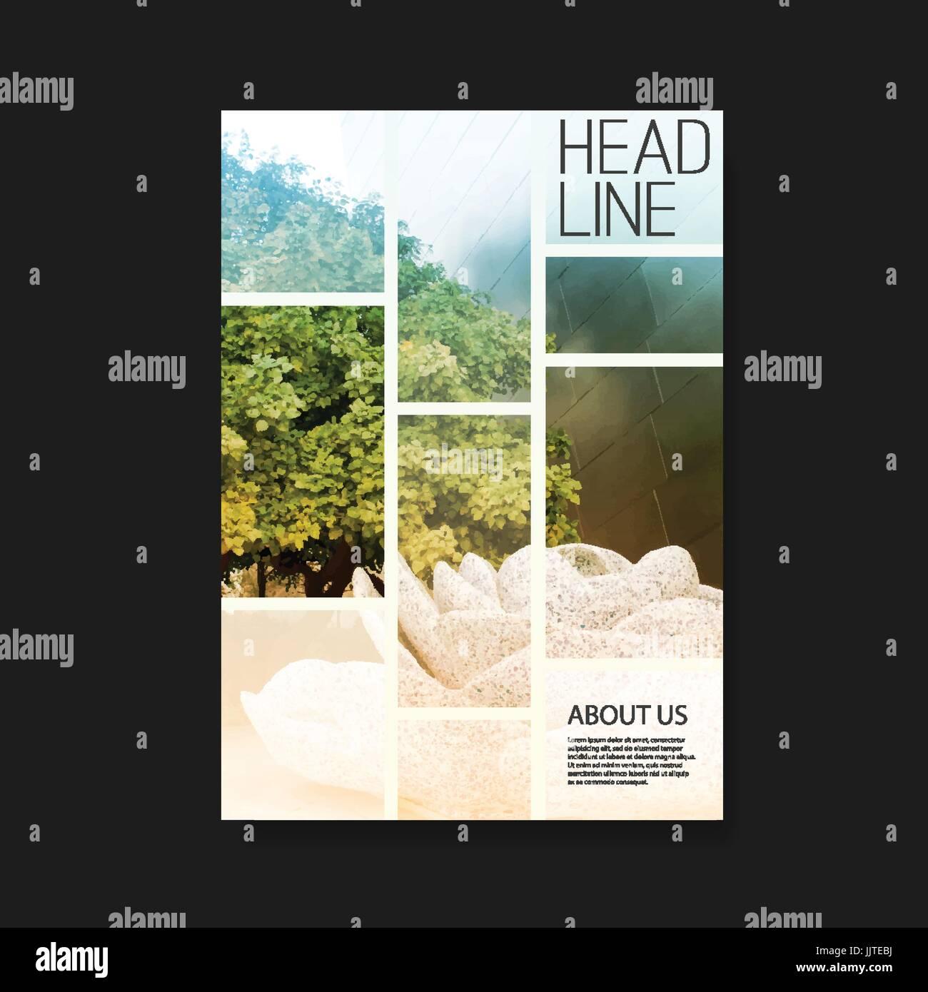 Flyer Dossier Brochure Dépliant Brochure Couverture Du