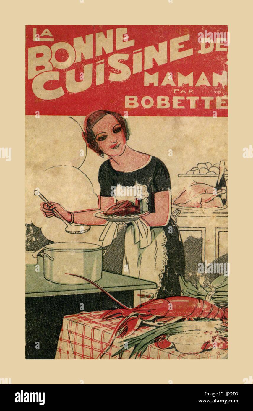 Annees 1950 Vintage Cuisine Francaise La Couverture Du Livre La