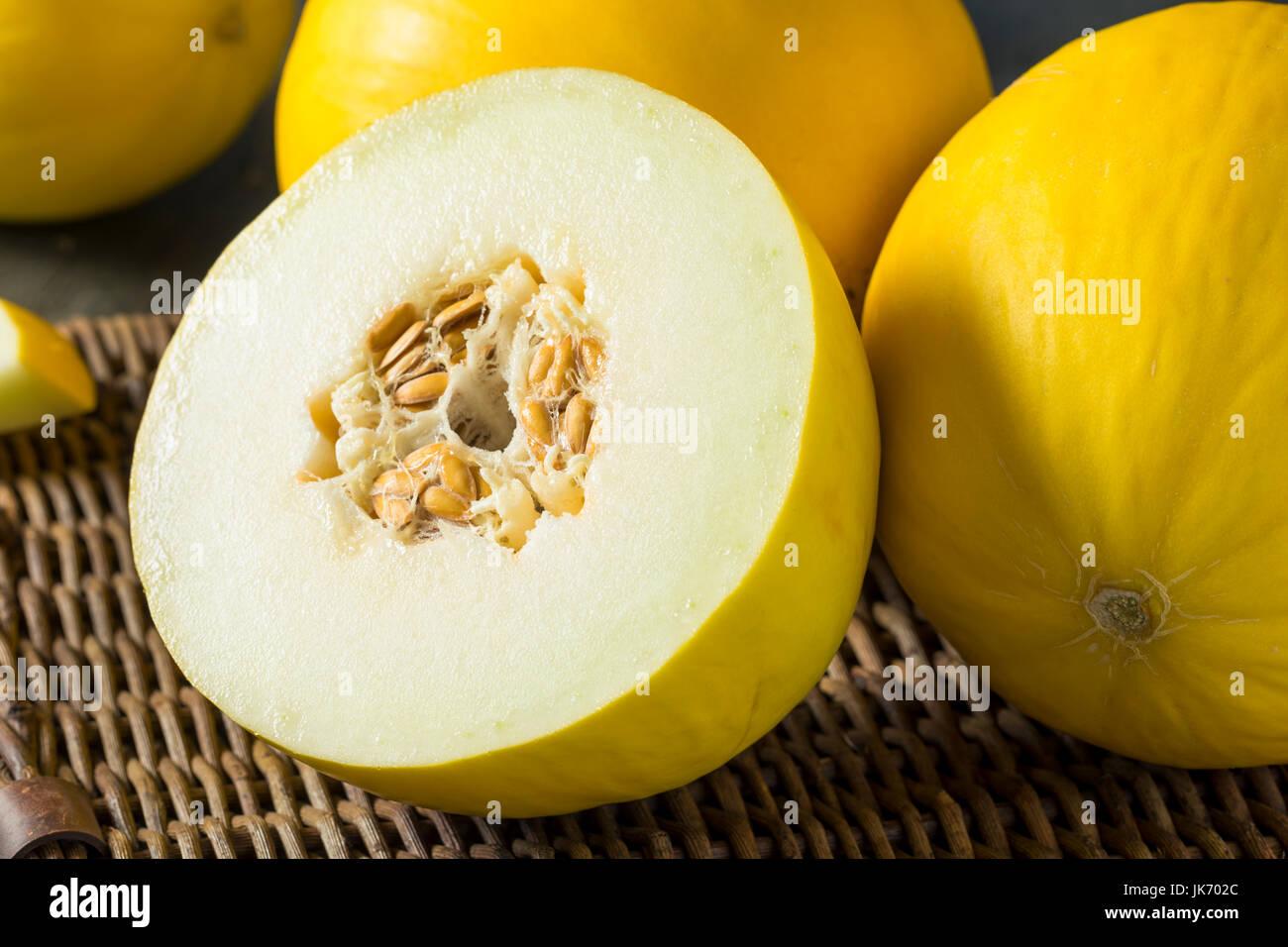 Melon jaune biologiques crus Honedew prêt à manger Photo Stock