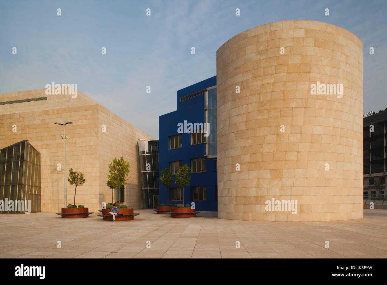 Espagne, Pays basque Région, province de Biscaye, Bilbao, le Guggenheim Museum, conçu par Frank Gehry Banque D'Images