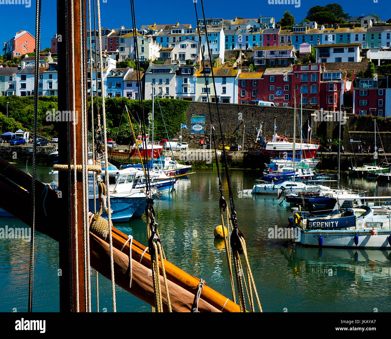 Fr - Brixham DEVON : vue sur le port Photo Stock