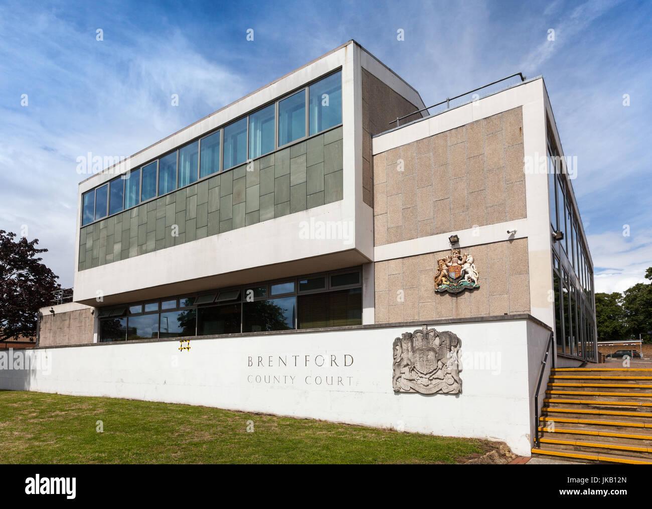 La Cour de comté de Brentford et Tribunal de la famille Banque D'Images