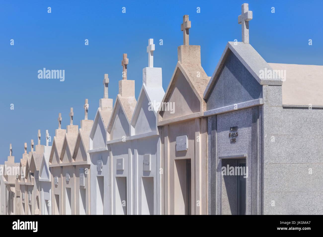 Cimetière marin, Ville Haute, Bonifacio, Corse, France Photo Stock