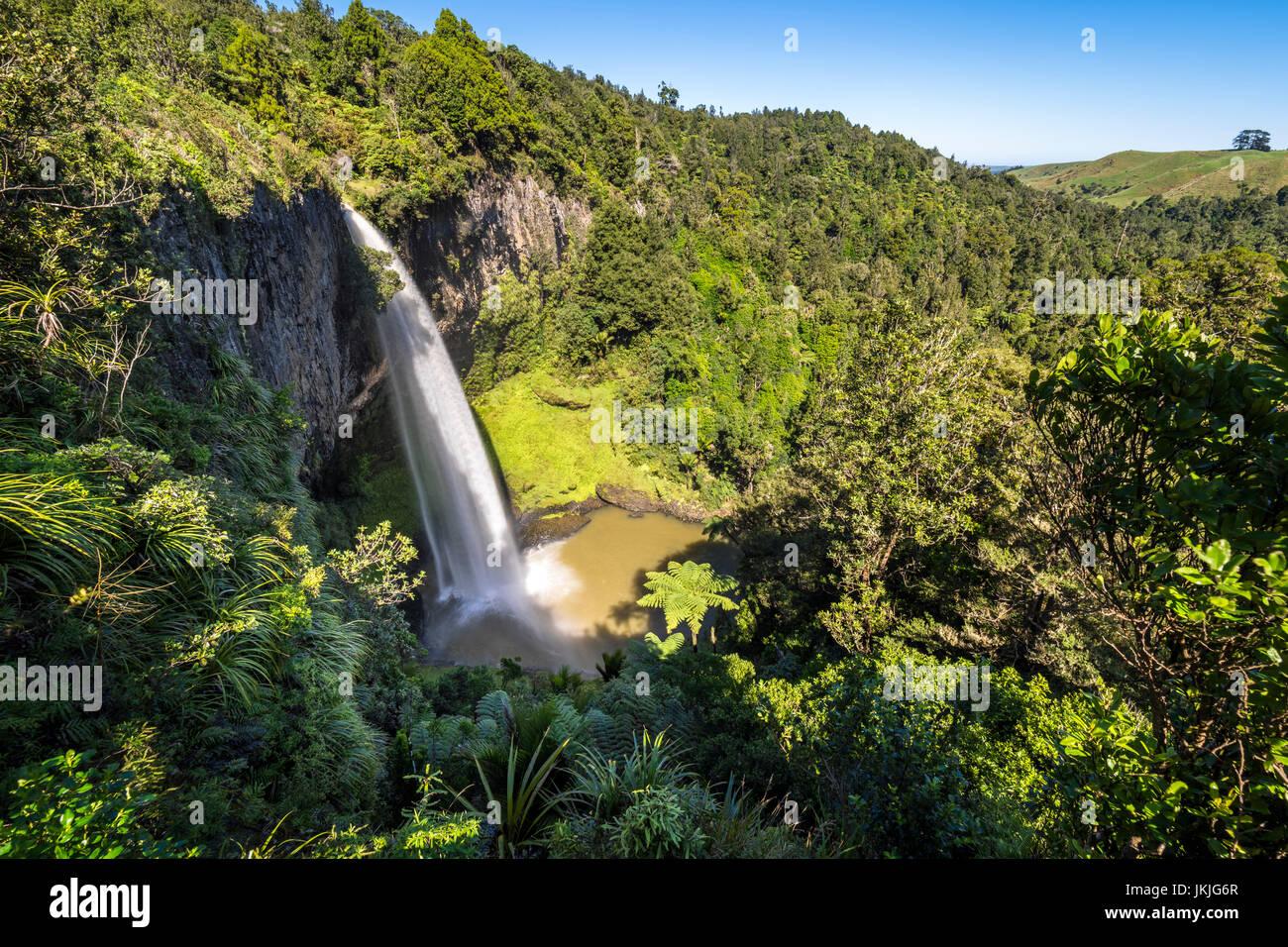 Nouvelle Zélande, île du nord, Raglan, Bridal Veil Falls Photo Stock
