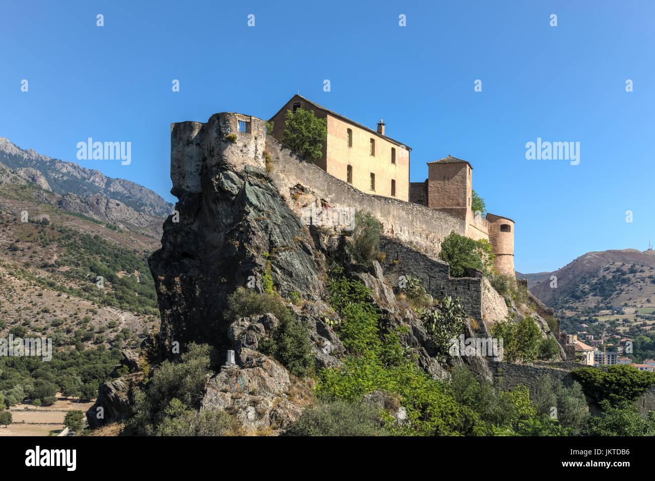 Corte, Haute-Corse, Corse, France Photo Stock