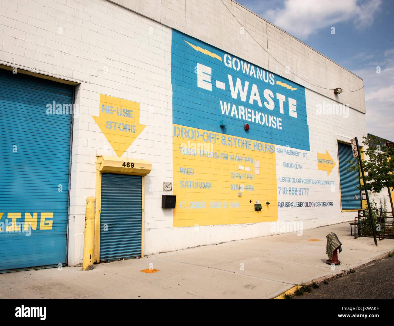 Un entrepôt à Brooklyn, New York Photo Stock