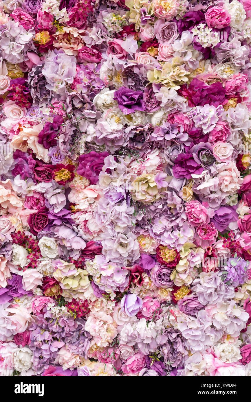 Texture Background Fleurs Pour Mariage Scene Roses Pivoines Et