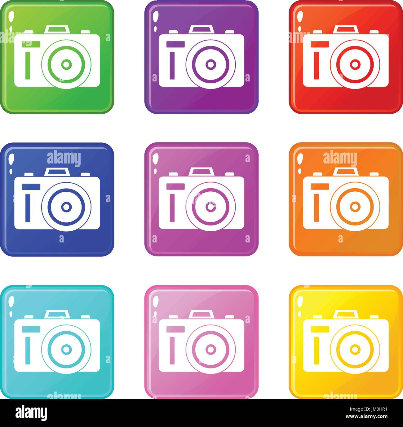 Set 9 Photocamera Photo Stock