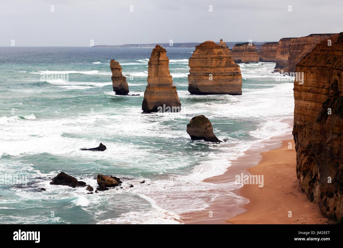 Matin voir , de 'Les douze apôtres, Port Campbell National Park, Victoria, Australie Photo Stock