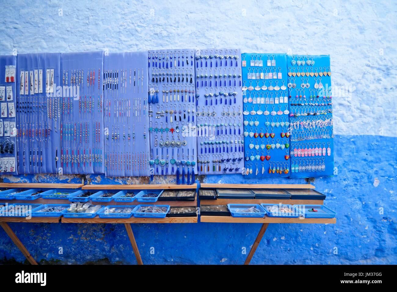 La ville bleue, Maroc Banque D'Images