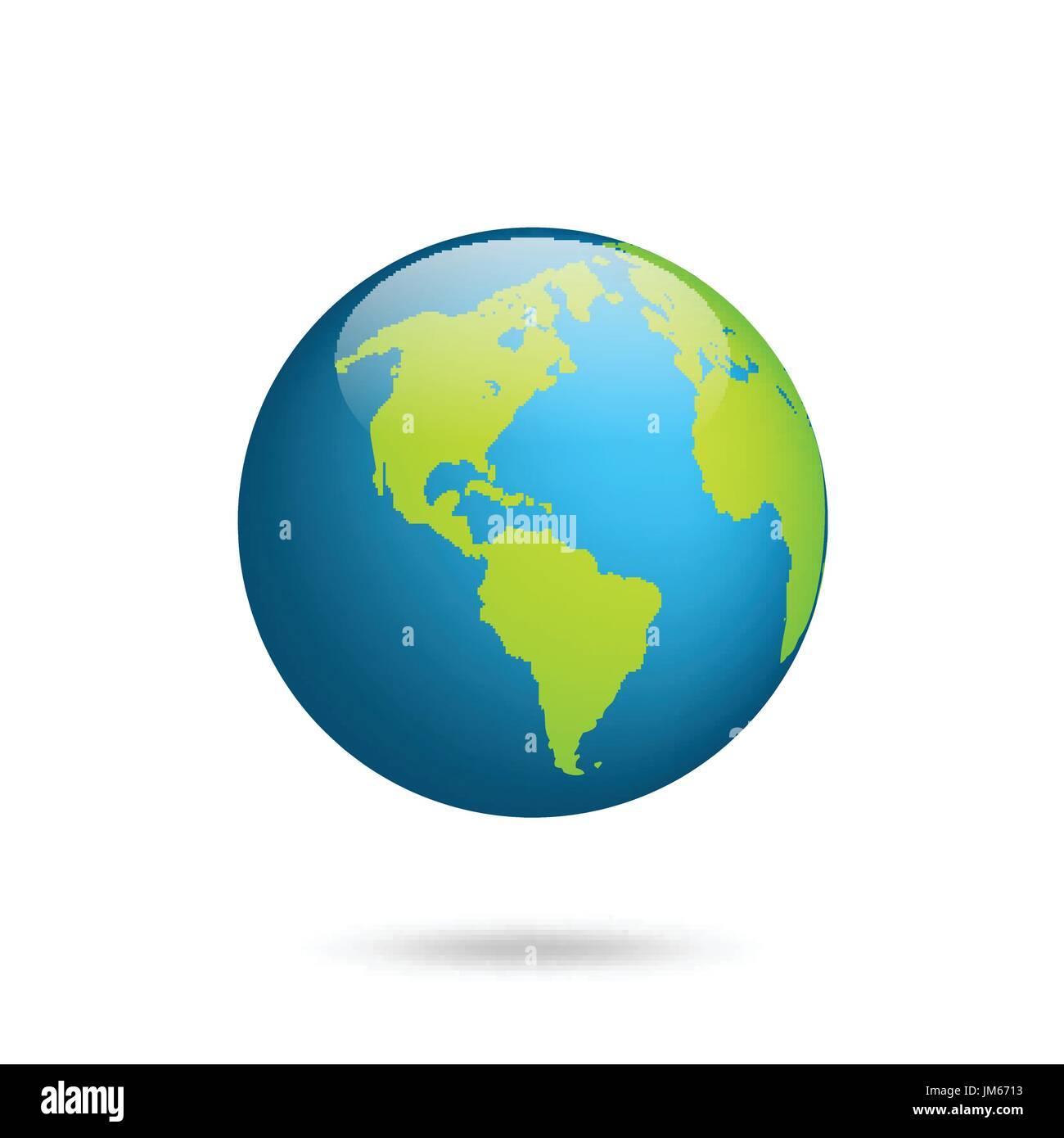 Carte Amerique Du Sud Jeu.Globe De La Terre Jeu De Carte Du Monde Planete Avec