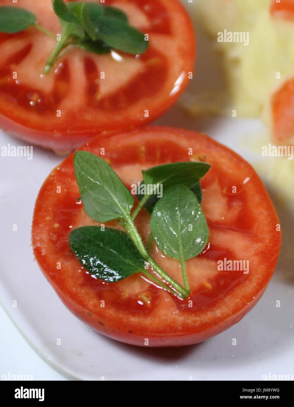 Les tomates biologiques Photo Stock