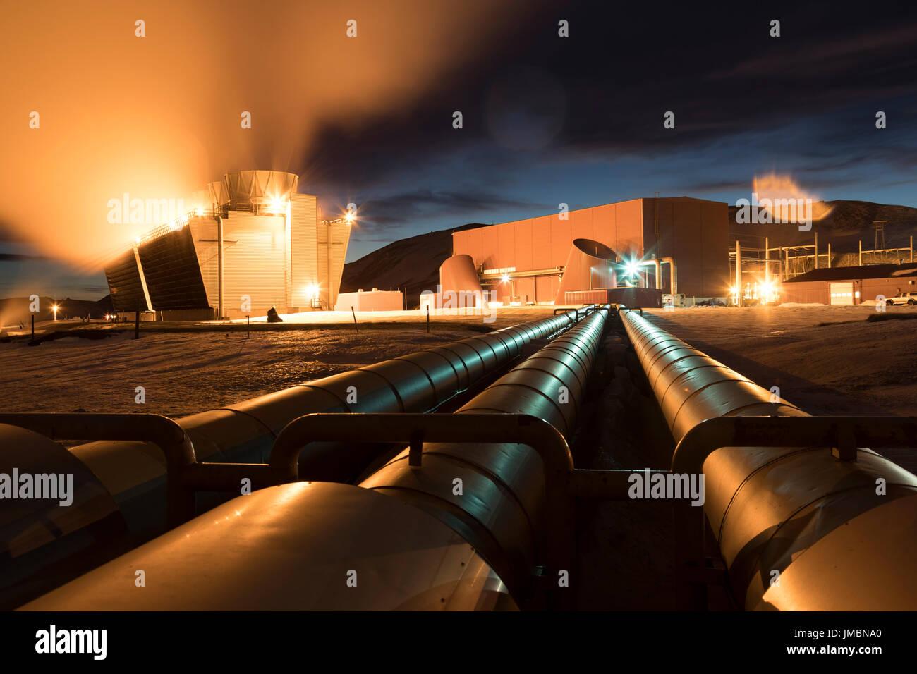Géo-thermique krafla power plant, de l'islande Photo Stock