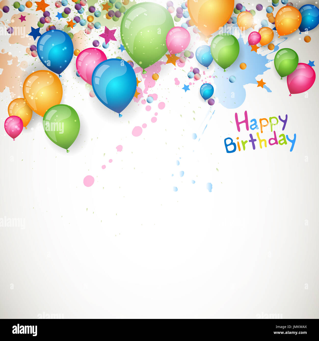Happy Birthday Greeting Card Background Vector Illustration Photos