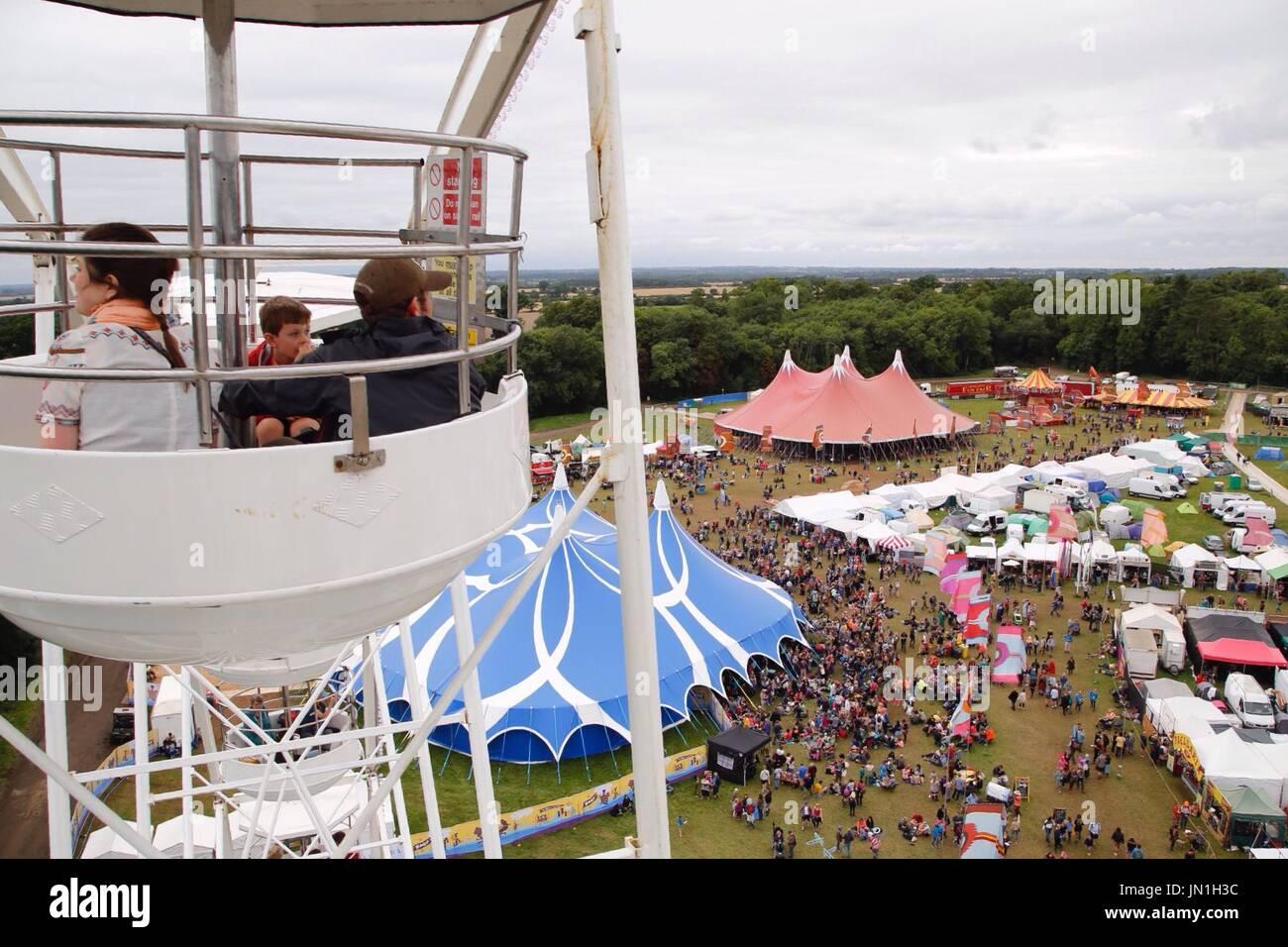 Malmesbury, Wiltshire. 29 juillet 2017. Le troisième jour de la world music et dance festival dans le Wiltshire. Banque D'Images