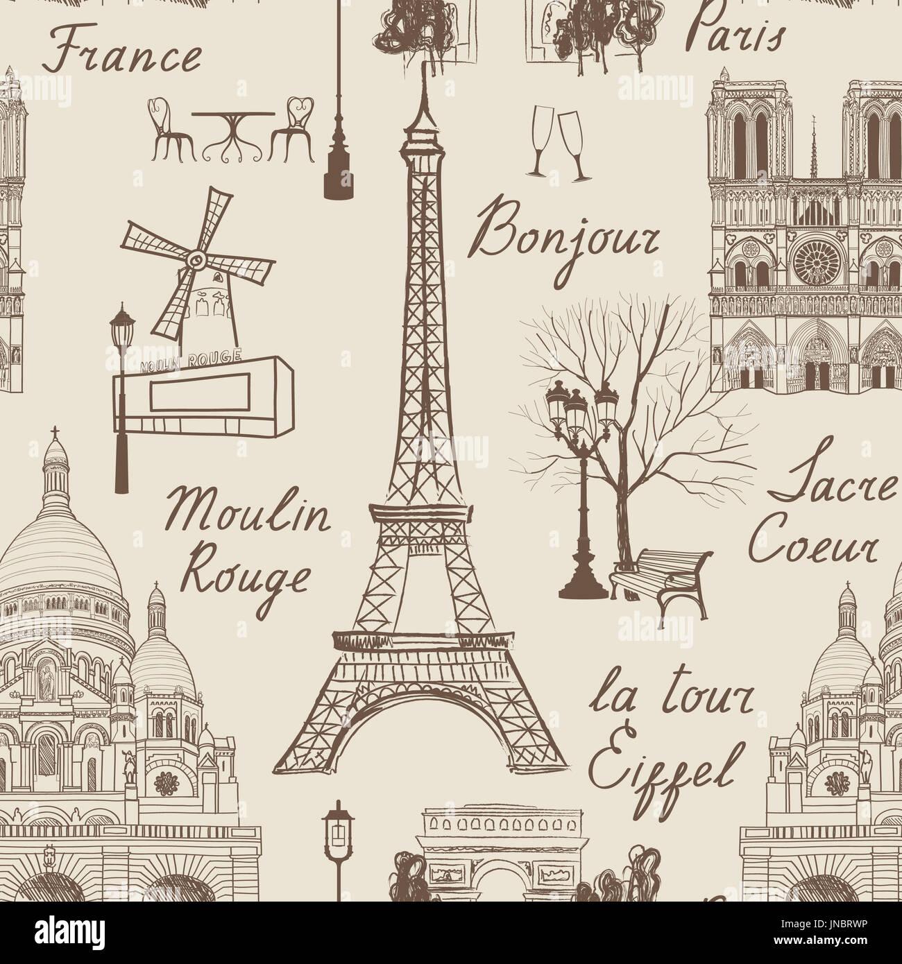 Billet Paris Motif Transparent Vacances En Europe Papier Peint