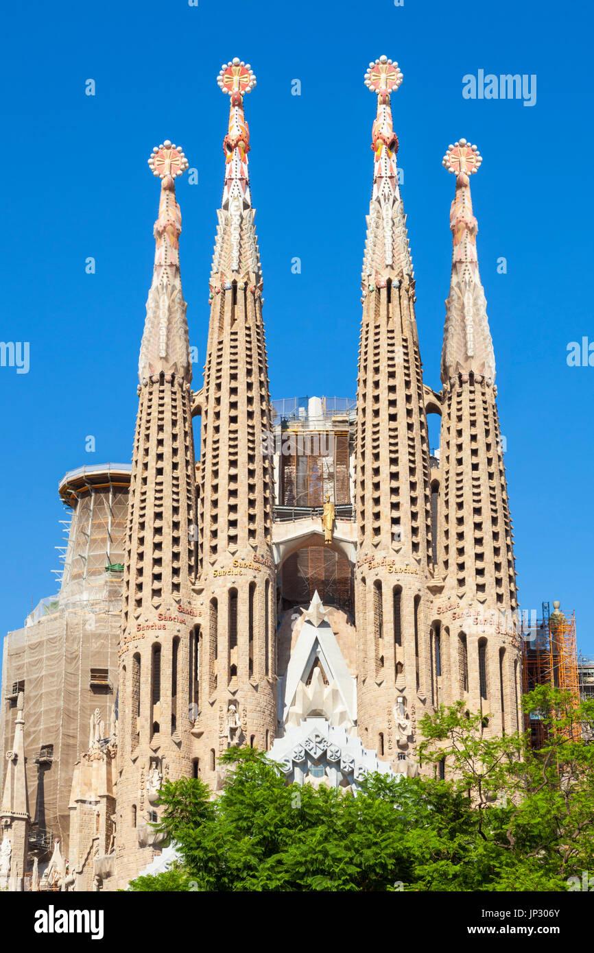 Espagne Barcelone Espagne Barcelone Antoni Gaudi sagrada familia Barcelone La sagrada familia Barcelone Espagne CATALOGNE CATALOGNE eu Europe Photo Stock
