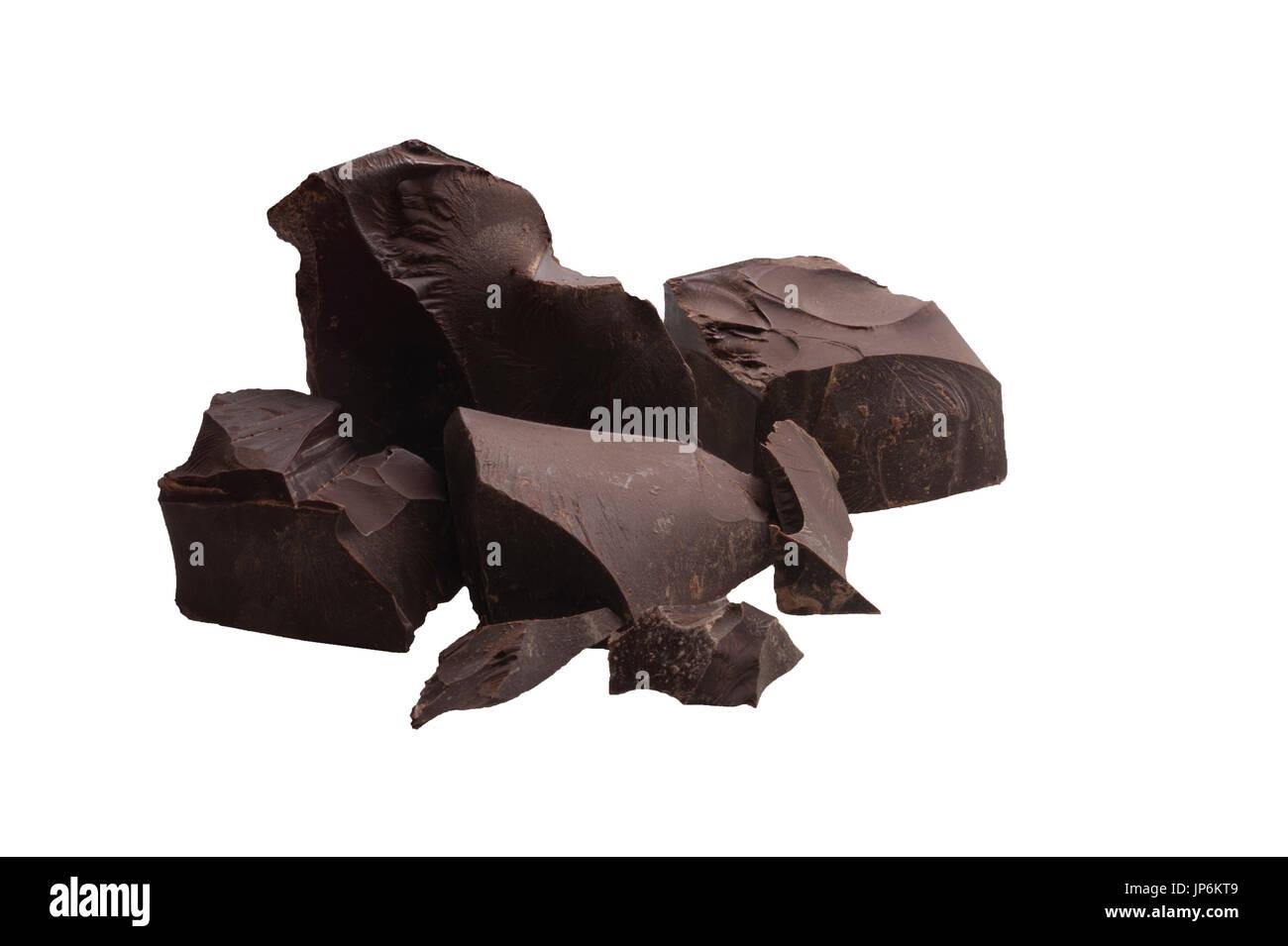 Morceaux de chocolat noir Photo Stock