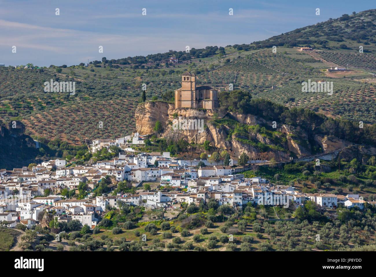 Espagne, Andalousie, Granada Région Province, Montefrio, Ville Banque D'Images