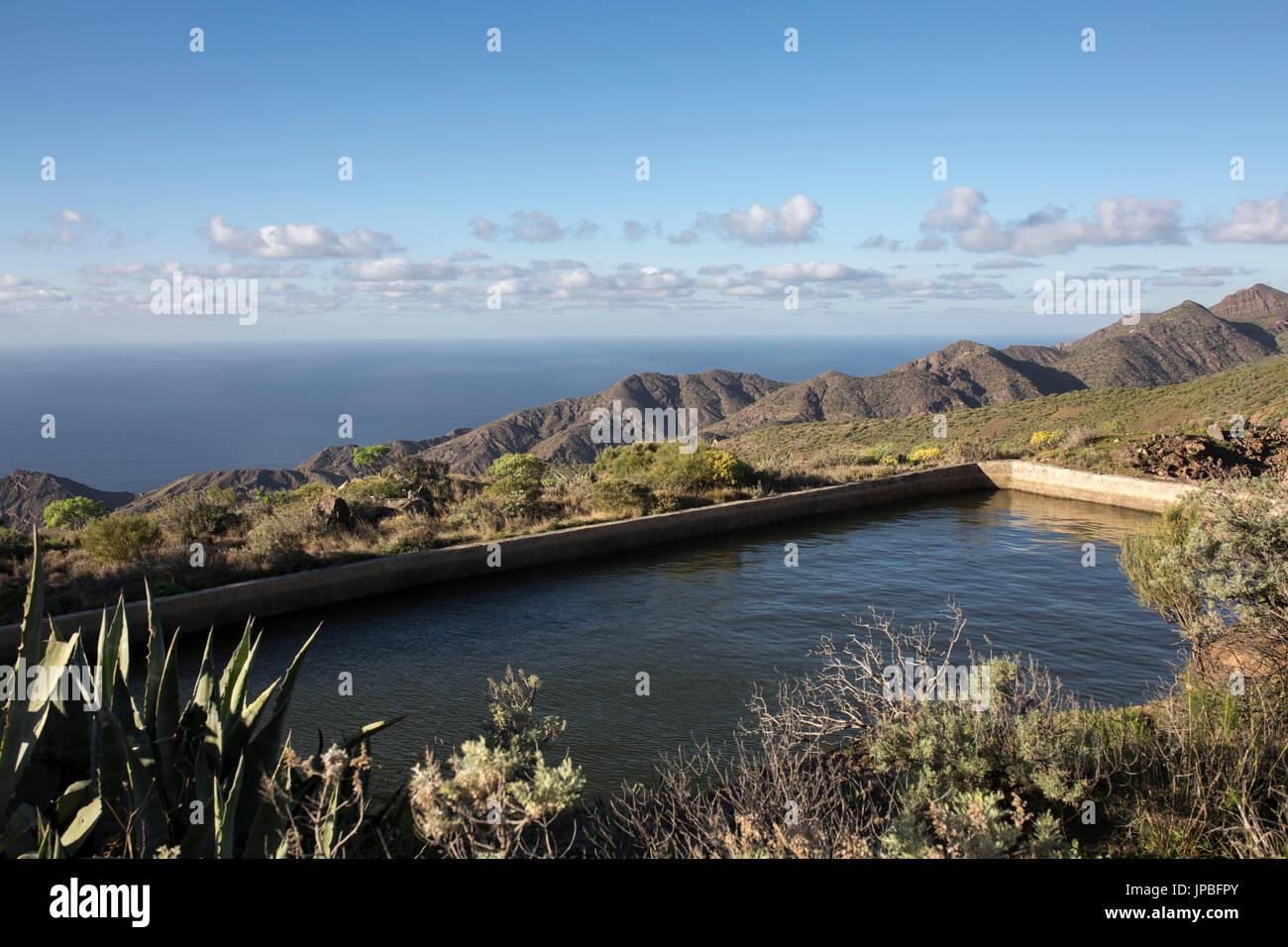 Réservoir d'eau de pluie sur La Gomera Photo Stock
