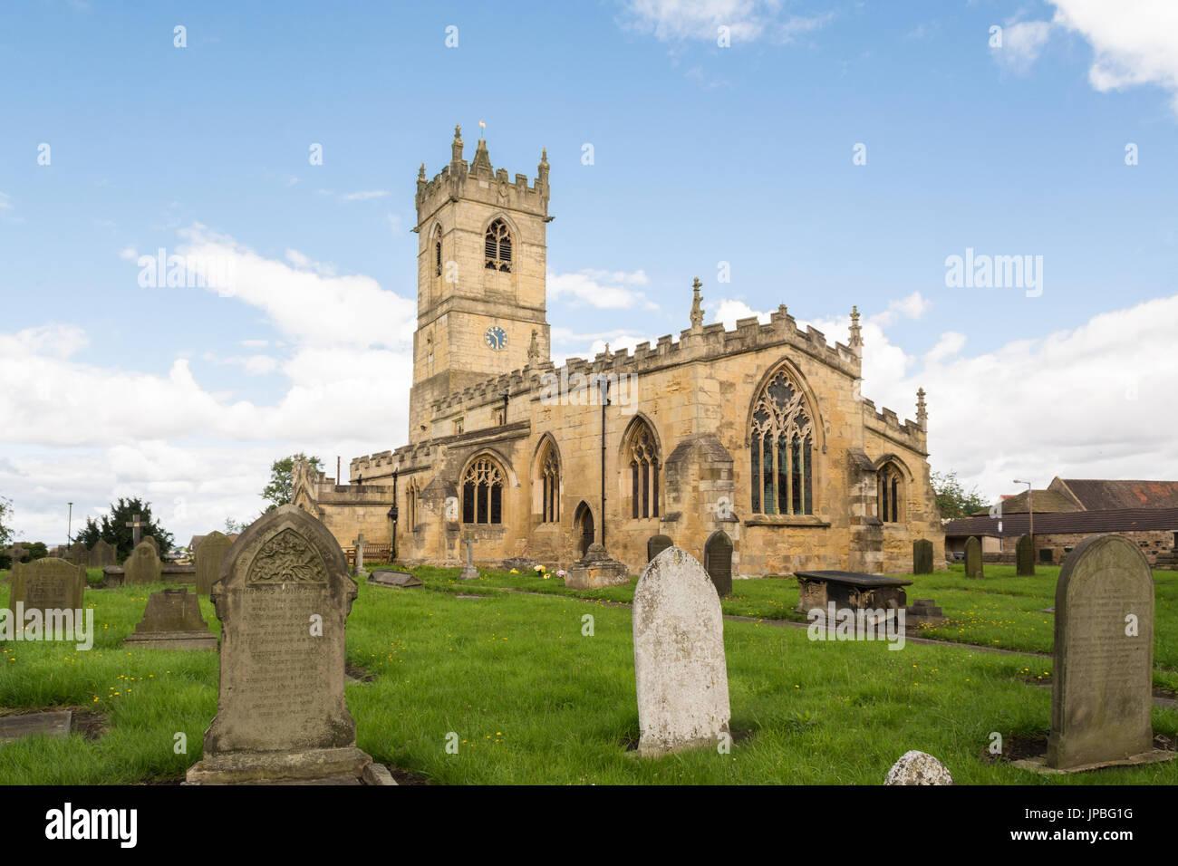 L'église Saint Pierre, Barnburgh, Doncaster, South Yorkshire, Angleterre, Royaume-Uni Banque D'Images